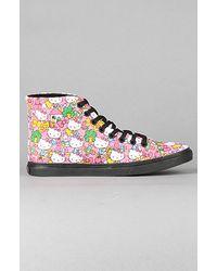 Vans The Sk8-hi D-lo Hello Kitty Sneaker in Black - Lyst