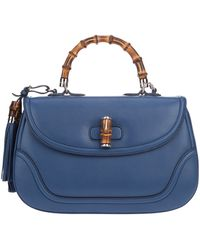 Gucci Bamboo Bag blue - Lyst