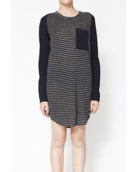 3.1 Phillip Lim Long Sleeve T-shirt Dress with Silk Sleeves - Lyst