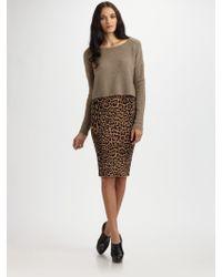 BCBGMAXAZRIA Gavin Leopard-print Skirt - Lyst