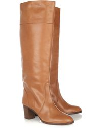 J.Crew Booker Leather Knee Boots - Lyst