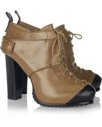 McQ by Alexander McQueen Lace-up Leather Ankle Boots - Lyst