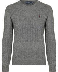 Polo Ralph Lauren Cable Knit Logo Jumper - Lyst