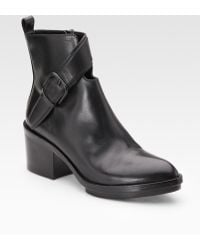 Alexander Wang Leather Cutout Ankle Boots - Lyst
