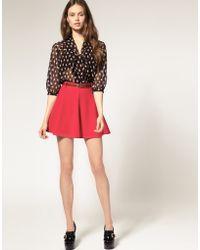 ASOS Collection Asos Ponti Mini Skirt with Belt - Lyst
