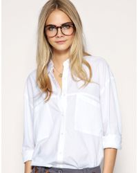 ASOS Collection Asos Oversized Pocket Boyfriend Shirt - Lyst