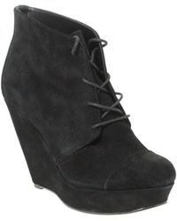 Asos Asos Ava Suede Lace Up Wedge Boot - Lyst