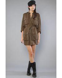 Cheap Monday The Militaria Dress in Dark Green - Lyst