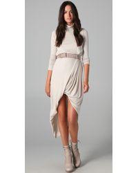 Doo. Ri - Belted Turtleneck Dress - Lyst