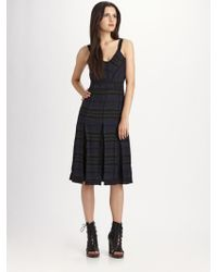 Proenza Schouler Printed Silk Dress - Lyst