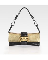 Vionnet Two-tone Small Flap Shoulder Bag - Lyst