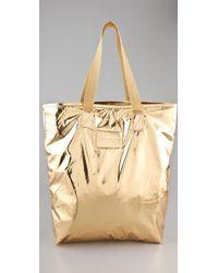 Marc By Marc Jacobs Metallic Packables Shopper - Lyst
