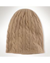 Ralph Lauren Blue Label - Merino Wool-cashmere Hat - Lyst