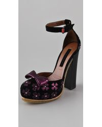 Jill Stuart - Laila Suede Platform Court Shoes - Lyst
