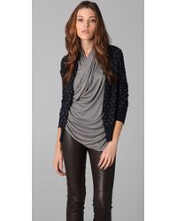 JNBY - Front To Back Polka Dot Cardigan - Lyst