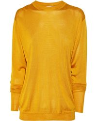 Acne Studios Etienne Fine-knit Silk Cutout Sweater - Lyst