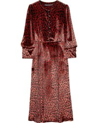 Marc By Marc Jacobs Sphinx Leopard-print Fine-velvet Dress - Lyst