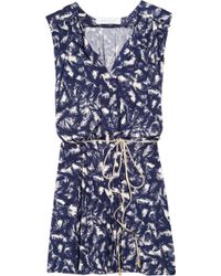T-bags - Printed Satin-jersey Dress - Lyst