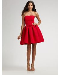 Chloe & Reese Strapless Silk Faille Cocktail Dress - Lyst