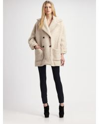 Surface To Air - Teddy Fleece Peacoat - Lyst