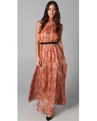 Thread Social - Lurex Maxi Dress with Tap Shorts Lining - Lyst
