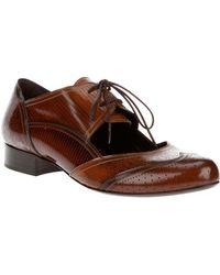 Fendi Lace Up Shoe brown - Lyst