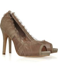 SuperTrash - Surface Tulle and Suede Pumps - Lyst