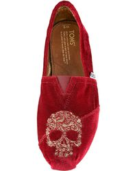 TOMS Beaumont Skull Slip-on - Lyst
