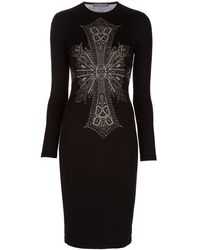 Alexander McQueen Intarsia Knit Dress - Lyst