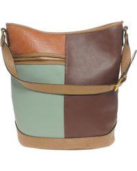 ASOS - Asos Colour Block Bucket Bag - Lyst