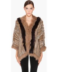 Elizabeth And James Salma Fur Poncho - Lyst