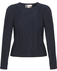 Boutique by Jaeger - Aran Knit Jumper Navy - Lyst