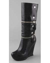 Camilla Skovgaard - Zip Wedge Boots On Saw Sole - Lyst