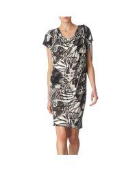 Paul Smith Black Label Butterfly Print Drawstring Dress - Lyst