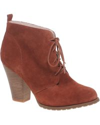 Asos Asos Arizona Suede Lace Up Shearling Ankle Boot - Lyst