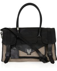 Proenza Schouler - Medium Ps1 Travel Leather and Felt Tote - Lyst