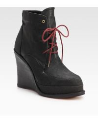 Rag & Bone Dolgan Suede & Leather Wedge Ankle Boots - Lyst