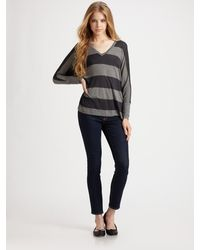 AG Adriano Goldschmied Slouchy V-neck Top - Lyst