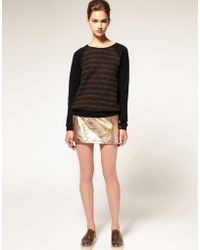ASOS Collection Asos Metallic Leather Mini Skirt - Lyst