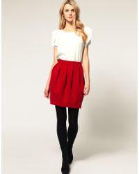 ASOS Collection Asos Bell Mini Skirt - Lyst