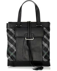 Daks - Checked Coated-canvas Shoulder Bag - Lyst