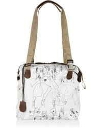 Pauric Sweeney - Printed Textured-leather Tote - Lyst