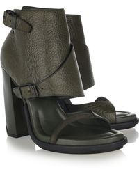 Alexander Wang Suvi Ankle-cuff Leather Sandals - Lyst