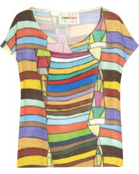 Clements Ribeiro - Galo Printed Silk Top - Lyst