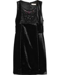 Matthew Williamson Embellished Velvet Shift Dress - Lyst