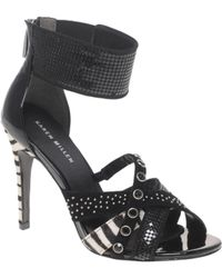 Karen Millen Zebra And Stud Heeled Shoes - Lyst