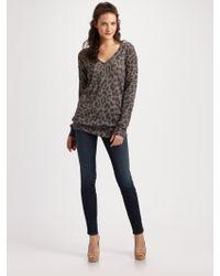 Rebecca Taylor Cloud Leopard-print Sweater - Lyst