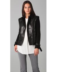 Sachin & Babi - Harley Faux Leather and Cable-knit Motorcycle Jacket - Lyst