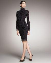 Emilio Pucci Velvet-embroidered Dress - Lyst