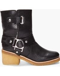 Belle By Sigerson Morrison Shearling Low Boots - Lyst